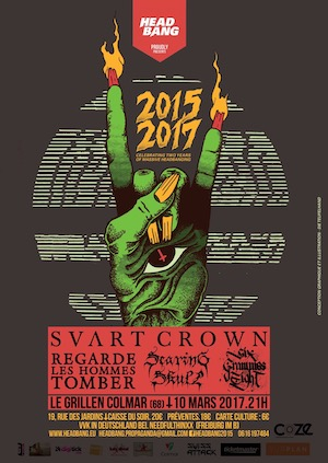 2017 03 10 RLHT - Photos: 2017-03-10 Regarde Les Hommes Tomber, Svart Crown, Six Grammes Eight, Searing Skull