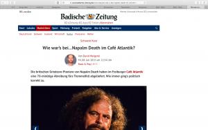 2015-07-08 Badische Zeitung / Napalm Death 1