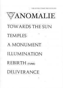 Anomalie 20181213 215x300 - Blog: Setlists