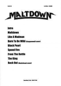 Maltdown 20190518 212x300 - Blog: Setlists